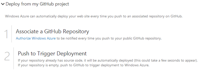 Associate a GitHub Repository