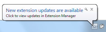 New extension updates are available