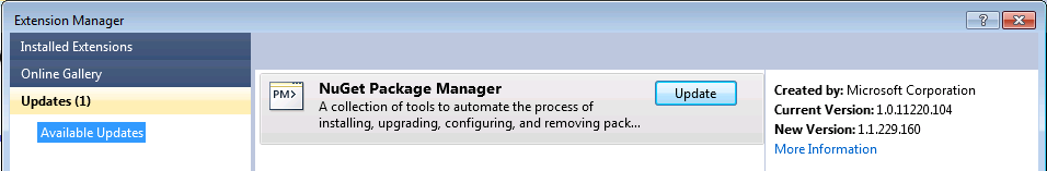 NuGet Action Plan - Upgrade to 1 1, Setup Automatic Updates