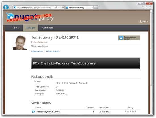My personal NuGet Gallery