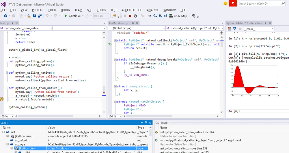 Python Tools for Visual Studio (PTVS)