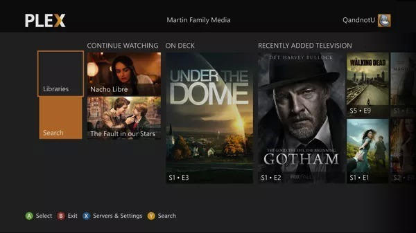 Plex Home Screen