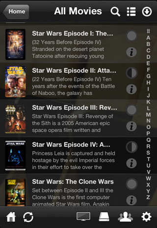 Plex movies on iPhone