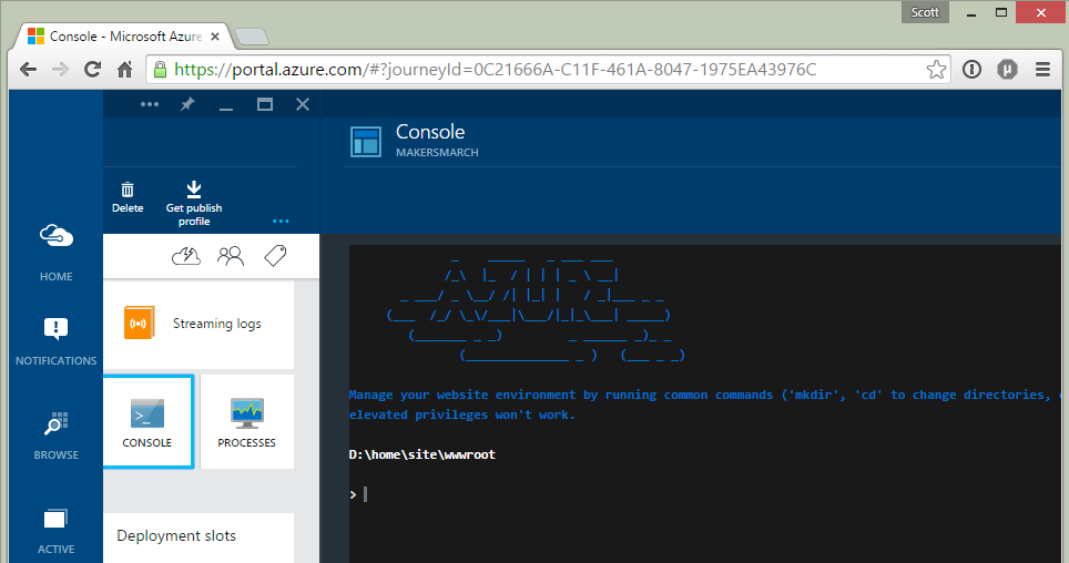 The New Azure Portal