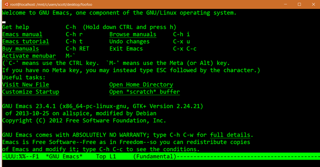 Developers can run Bash Shell and user-mode Ubuntu Linux