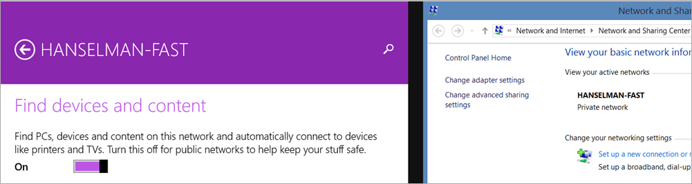 Switching a Network Private in Windows 8