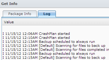 The CrashPlan Service is starting