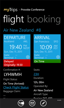 My Trips for TripIt on Windows Phone 7