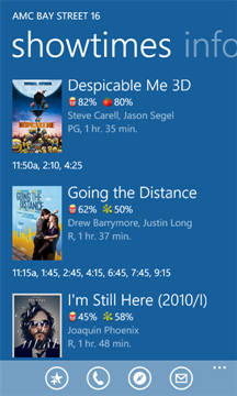 Flixster on Windows Phone 7