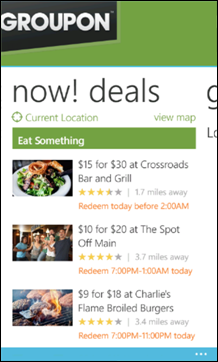 Groupon for Windows Phone