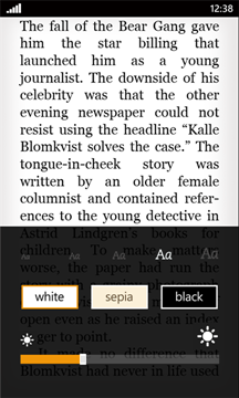 Amazon Kindle Reader on Windows Phone 7
