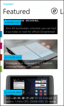 Engadget for Windows Phone