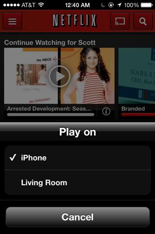 Netflix Chromecasting