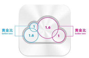 iCloud Icon Golden Ratio