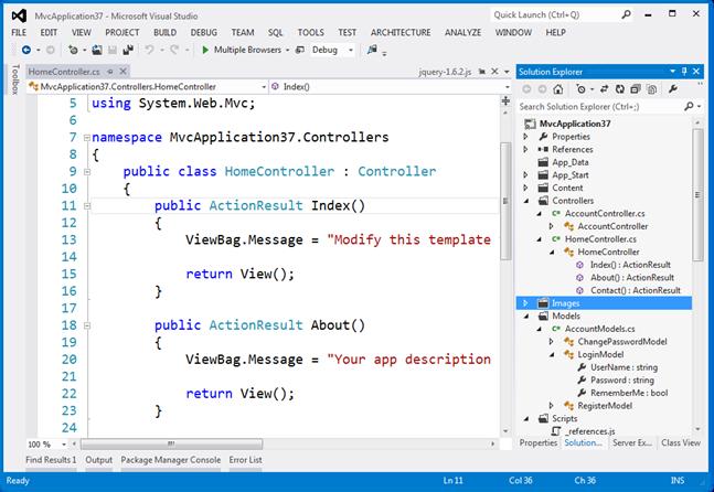 Visual Studio Light Theme