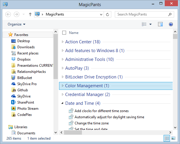 "I renamed my folder ""Magic Pants"""