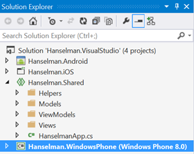Xamarin uses Shared Projects in Visual Studio