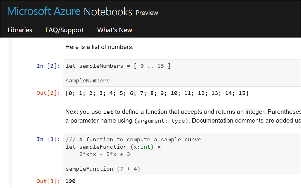 Azure Notebooks