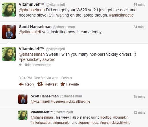 Friday, 09 December 2011 - Scott Hanselman