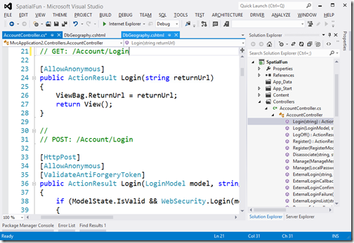 VS2012 with the default color scheme