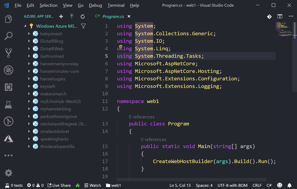 Right click publish quickly to Azure App Services with VS Code