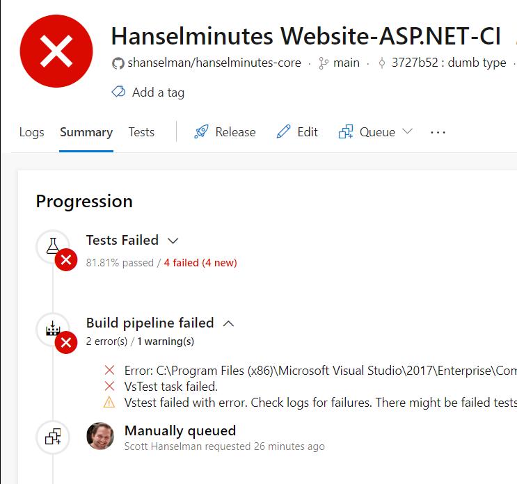 Azure DevOps Continuous Build/Deploy/Test with ASP NET Core 2 2