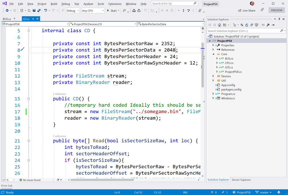 PSX Emualtor in C# inside Visual Studio