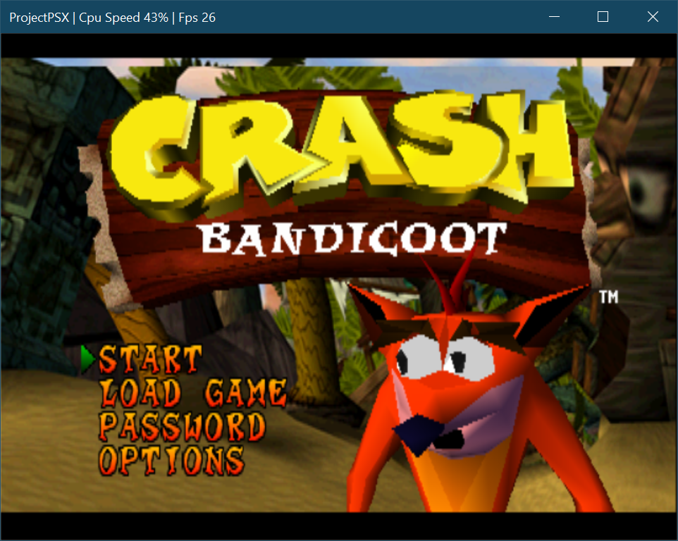 Crash Bandicoot on a C#-based PSX Emulator