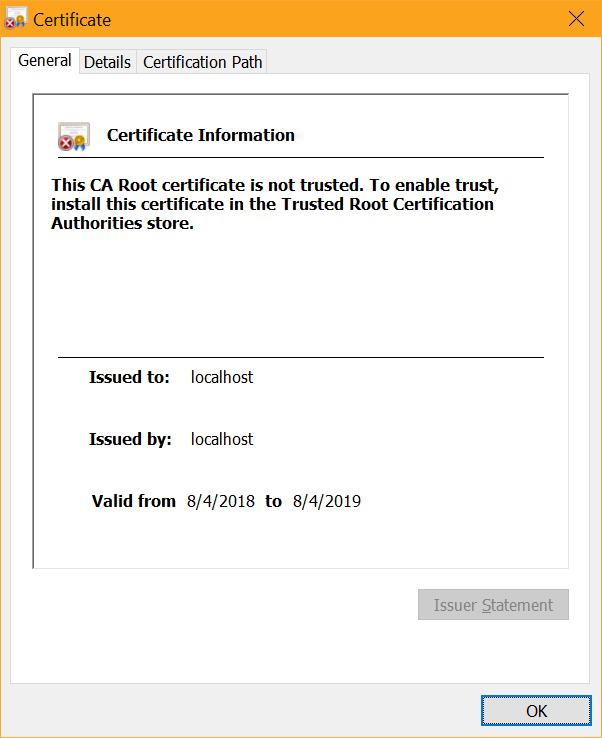 Developing Locally With Asp Core Under Https Ssl And Self