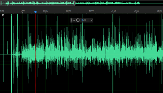 Raw audio data 1 channel