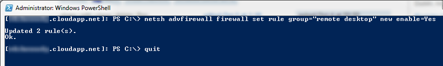 10 - Remote PowerShell Session Firewall Rule Update