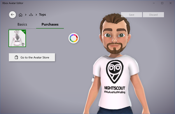 Diabetes CGM on an Xbox avatar