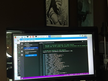 Visual Studio Code running on a Raspberry Pi 3 - Michonne Approves