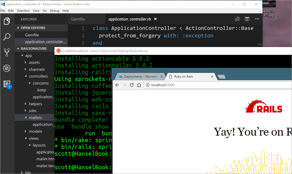 Ruby on Rails on Azure App Service (Web Sites) with Linux