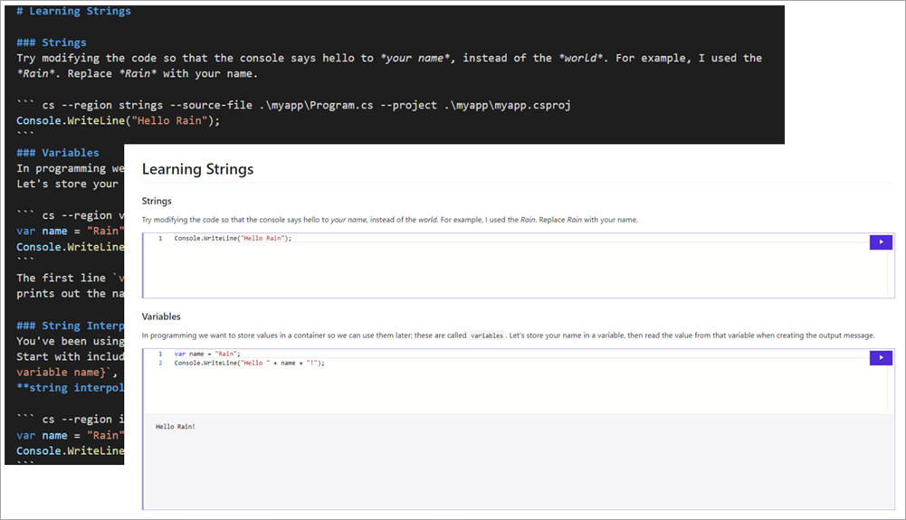 Code Fences within Markdown