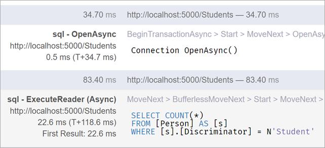 inline SQL in MiniProfiler