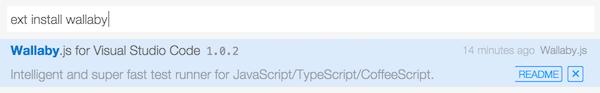 Installing WallabyJS on Visual Studio Code