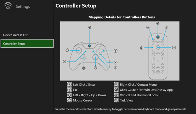 Controller Mapping for PC to Xbox