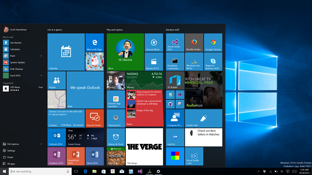 Expanding the Windows 10 Start Menu