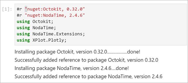 installing nuget packages in Jupyter Notebooks