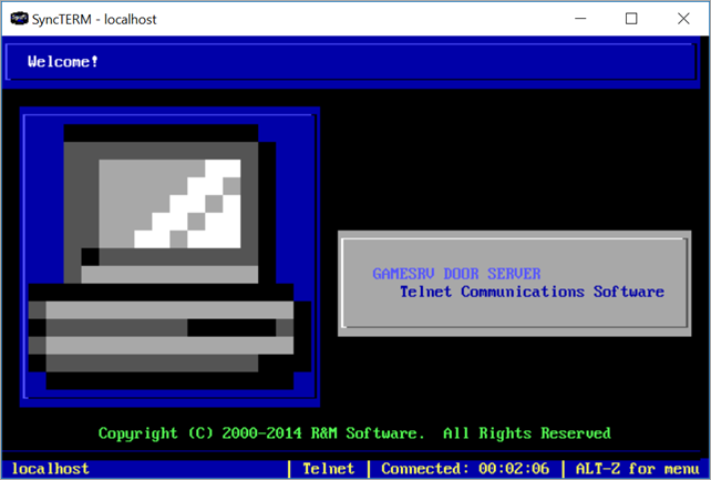 Running BBS Door Games on Windows 10 with GameSrv, DOSBox, plus