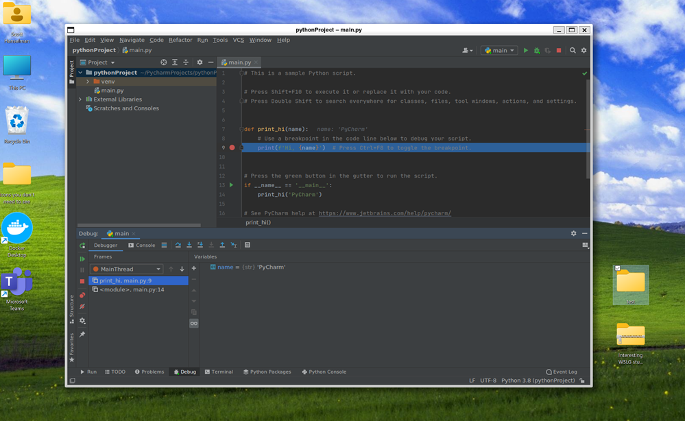 Can you really develop with Linux GUI Apps on Windows 10 with WSLg? How about PyCharm?