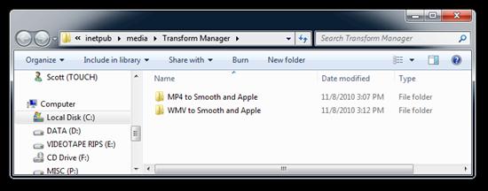 Transform Manager