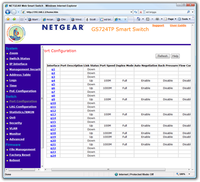 NETGEAR Web Smart Switch - Windows Internet Explorer