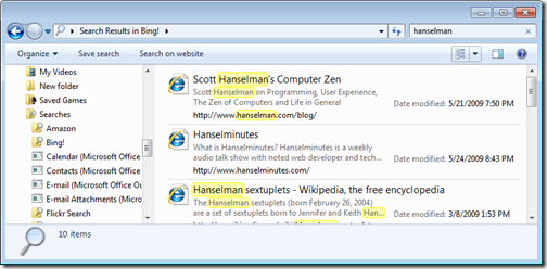 hanselman - Search Results in Bing! (2)