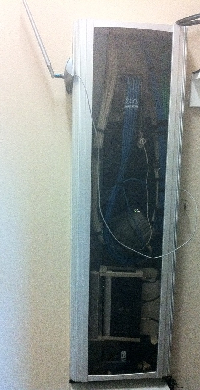 My downstairs wiring closet