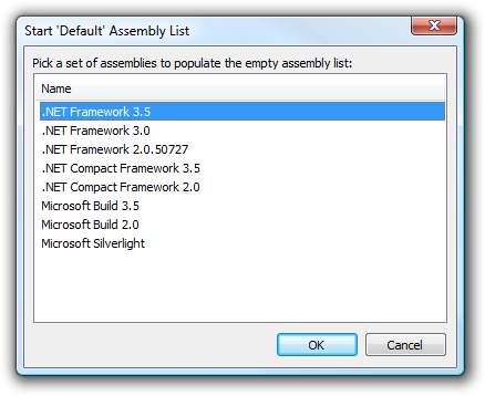 Start Default Assembly List