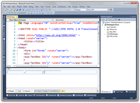WebApplication1 - Microsoft Visual Studio (9)