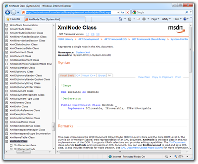 XmlNode Class (System.Xml) - Windows Internet Explorer (3)