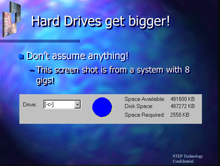 """This screen shot is from a system with 8 gigs!"""